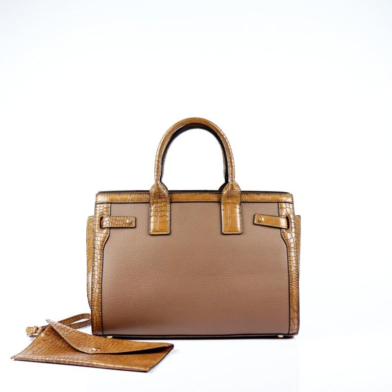 Елегантна дамска чанта от еко кожа
