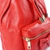 Дамска раница от естествена кожа в класическо червено