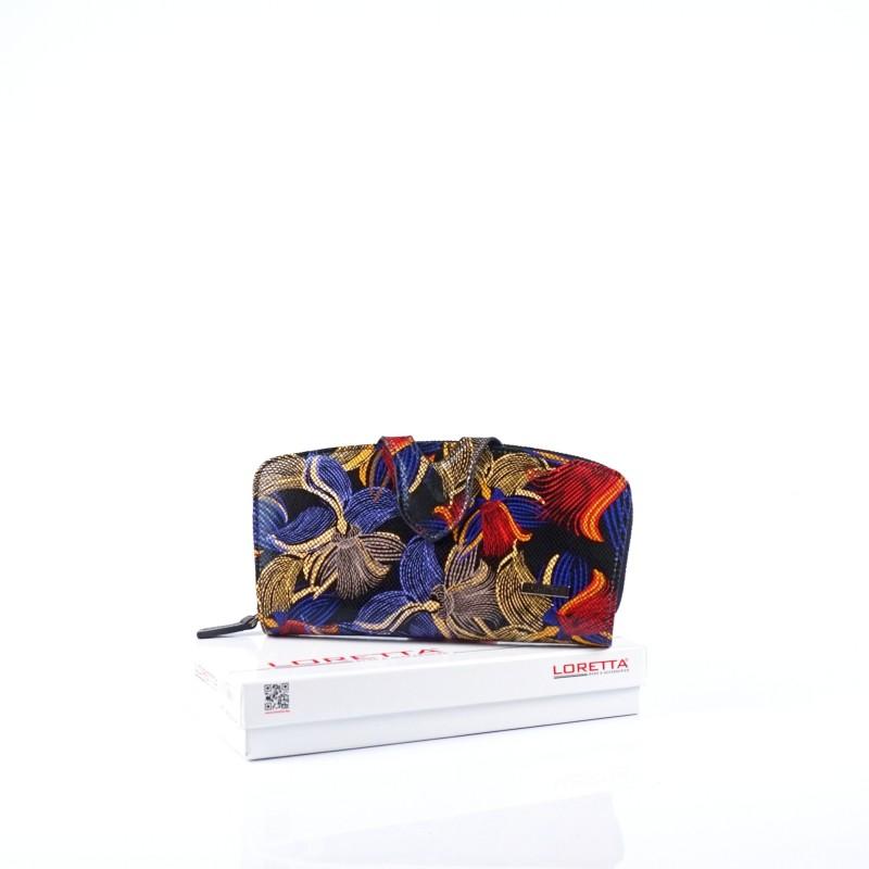 Голям дамски портфейл от естествена кожа
