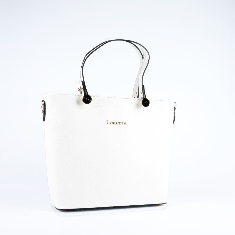 Ръчна чанта от еко кожа в бяло
