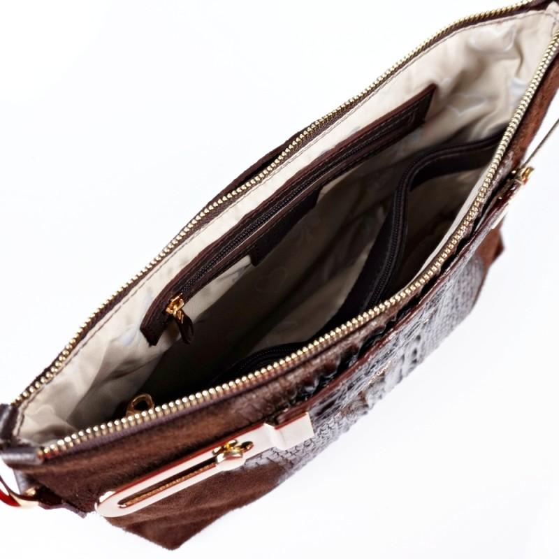 Кожена чанта с подвижни дръжки