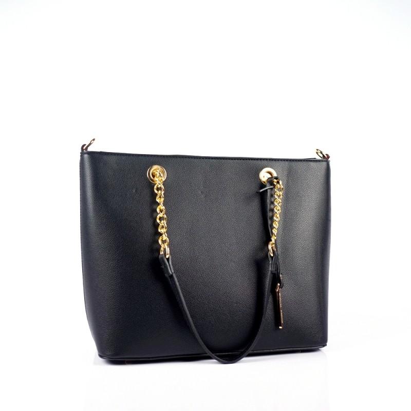 Дамска чанта с дръжки от метална верижка