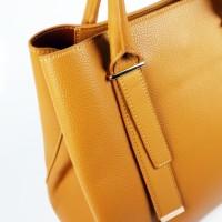 Просторна дамска чанта от еко кожа
